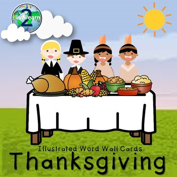 Illustrated Word Wall Cards: Thanksgiving