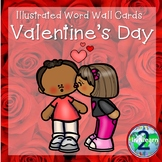 Illustrated Word Wall Cards: Valentine's Day
