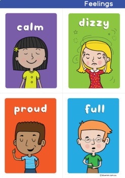 Feelings and Emotions Word Cards