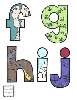 Illustrated lowercase alphabet