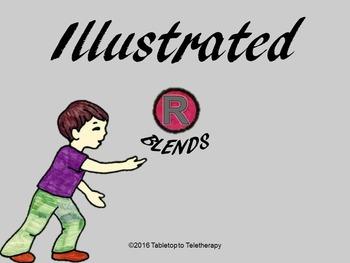 """Illustrated /r/ Blends: Practice, Vanishing /r/ Blends, & """"Paper Games"""""""