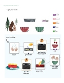 A complete visual cooking project for Cherry Crumble, incl
