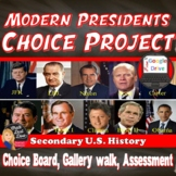 Contemporary American President's Project  - CHOICE BOARD (U.S History)