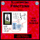 Illustrating Fractions - Book 4: (ie: 2/3 + 3/4) (Distance