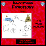 Illustrating Fractions - Book 8: Multiplying Fractions (ie: 6 x 3/5)