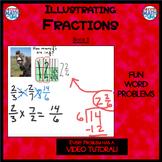 Illustrating Fractions - Book 11: Dividing Fractions (ie: 1/2 ÷ 1/4)