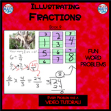 Illustrating Fractions - Book 9: Dividing Fractions (ie: 6 ÷ 1/4 and 1/4 ÷ 6 )