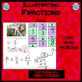 Illustrating Fractions - Book 9 (ie: 6 ÷ 1/4 ) (Distance L