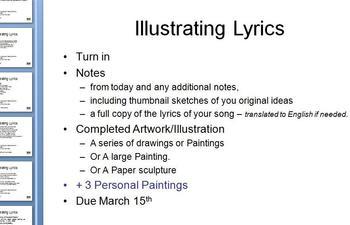 Illustrating Lyrics