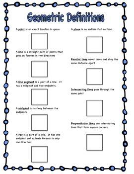Illustrating Geometry Vocabulary
