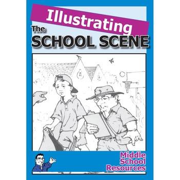 Illustrating the School Scene **100% ORIGINAL**