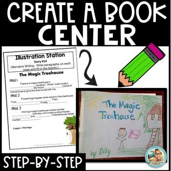 Make a Book Centers - Build a Story Kindergarten, 1st  2nd grade