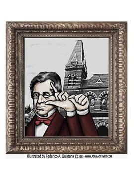 Illustration of Thomas Gallaudet signing his name