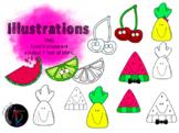 Illustrations - Fruits