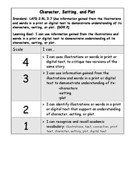 Illustrations and Words Literature Marzano Scale (RL.2.7 and LAFS.RL.3.7)