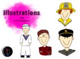 Illustrations - métiers