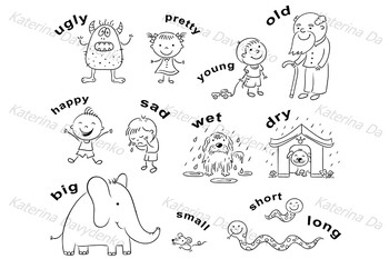 Illustrations of Antonyms