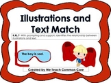Illustrations to Text Matching Activity Daily 5 Literacy Station Summer Theme