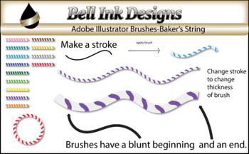 Illustrator Brushes-Baker's String