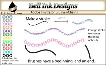 Illustrator Brushes-Chains