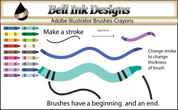 Illustrator Brushes-Crayons