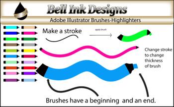 Illustrator Brushes-Highlighters