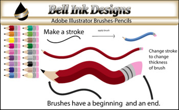 Illustrator Brushes - Pencils
