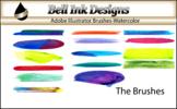 Illustrator Brushes - Watercolor Set 1