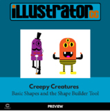 Illustrator CC - Creepy Creatures - Basic shapes and the Shape Builder Tool