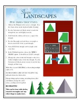 Illustrator Creating Flat Landscapes