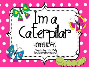 I'm A Caterpillar Homework - Scott Foresman