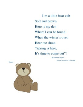 I'm A Little Bear Cub