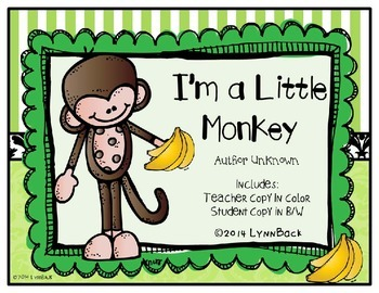 I'm A Little Monkey Song