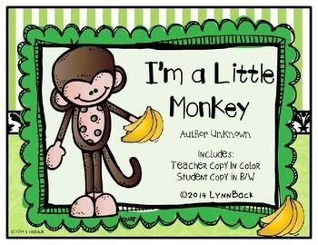 I'm A Little Monkey Song