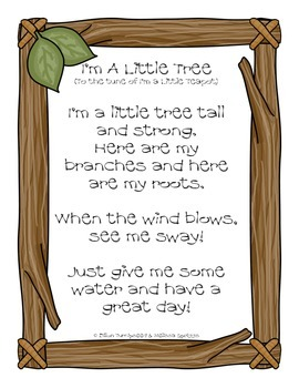 I'm A Little Tree (song poster)
