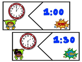 Telling Time To The Hour And Half Hour!