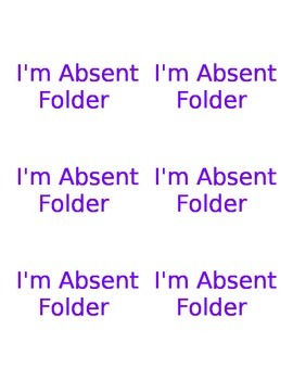 I'm Absent Free Labels