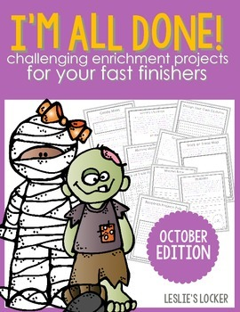I'm All Done! (10 fast finisher projects for October)