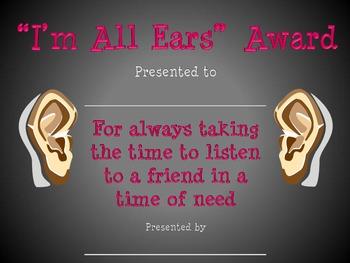 """""""I'm All Ears"""" Award"""
