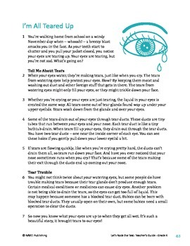 I'm All Teared Up - Informational Text Test Prep