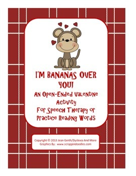 I'm Bananas Over You! - An Open-Ended Valentine Activity