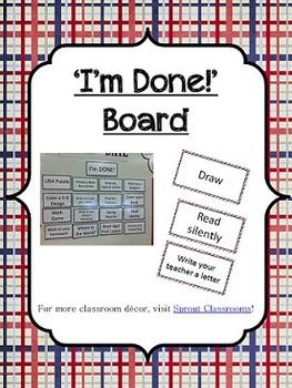 'I'm Done!' Board