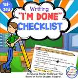 I'm Done Checklist for When Kids Think They Are Done with Writing