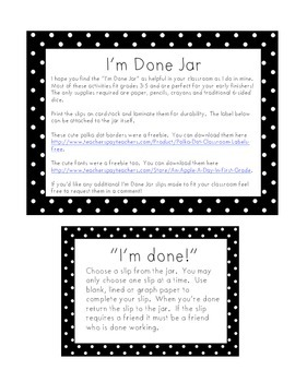 I'm Done Jar Packet