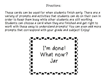 I'm Done, Now What? Jar