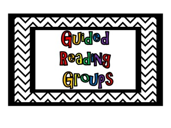 Guided Reading and Math Group Chart