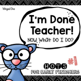 Early Finishers Enrichment Activities - Pack #1