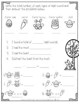 "I'm ""Egg-cellent"" at Sight Words-Fry's 2nd 100 {Easter Egg Sight Word Hunt}"