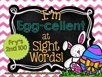 "I'm ""Egg-cellent"" at Sight Words-Fry's 2nd 100 {Easter Egg"
