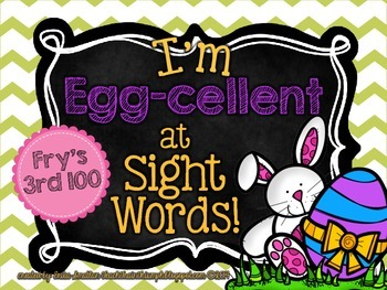 "I'm ""Egg-cellent"" at Sight Words-Fry's 3rd 100 {Easter Egg"